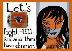 Lets Fight Till Six and Then Have Dinner by Michele Guieu, November 2012 Feature Exhibition