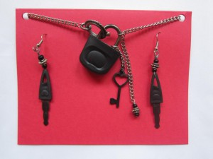 Lock And Keys Necklace by Angela Elsey