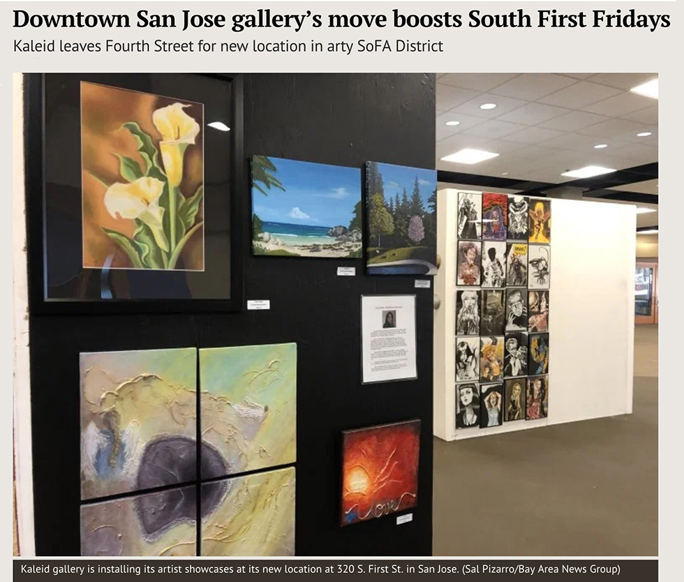 KALEID Gallery move article by Sal Pizarro Mercury News