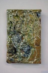 Uranium Copper Lustre Tile 2 by Andrew Irvine