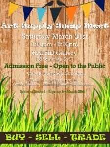 Buy! Sell! Trade! Art Supply Swap Meet!