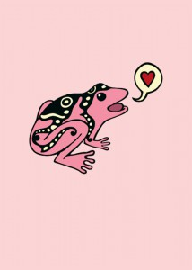 Love Frog Card by Laura Callin Bennett
