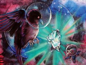 Intergalactic Cowbird by Leah Jay