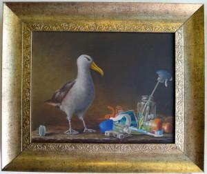 Albatross W/Plastic by Jeff Hemming