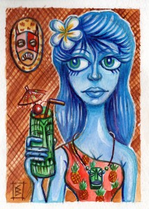 Blue Wahine by Christine Benjamin