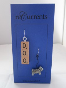 Dog Earrings  by Angela Elsey